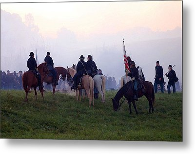 Reviewing The Troops - Perryville Ky  Metal Print by Thia Stover