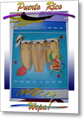 Revised _festive Congas Metal Print by Sonia Rodriguez