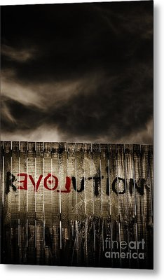 Revolution. The Writings Is On The Wall Metal Print by Jorgo Photography - Wall Art Gallery