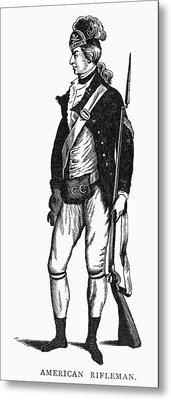 Revolutionary War Rifleman Metal Print by Granger