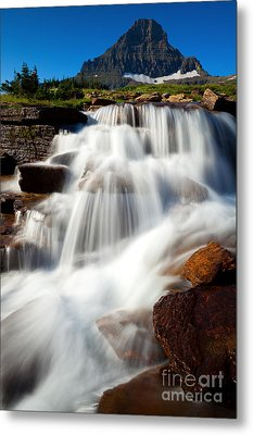 Metal Print featuring the photograph Reynolds Peak Waterfall by Aaron Whittemore