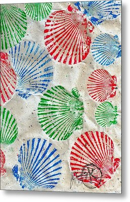 Rgb - Scallop Beach Metal Print