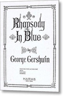 Rhapsody In Blue Metal Print by Mel Thompson