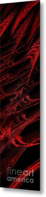 Rhapsody In Red V - Panorama - Abstract - Fractal Art Metal Print by Andee Design