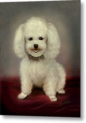 Cutest Poodle Metal Print