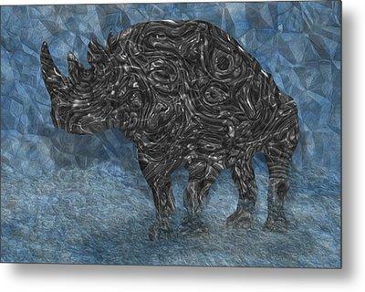 Rhino 5 Metal Print by Jack Zulli