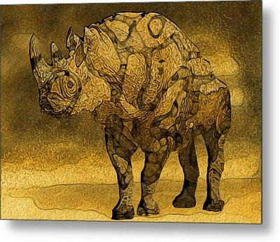 Rhino - Abstract Metal Print