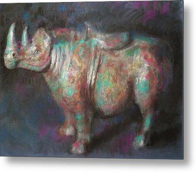Rhinocerus Metal Print by Paez  Antonio