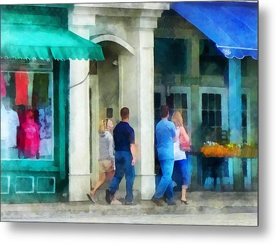 Rhode Island - Eating Out With Friends Newport Ri Metal Print