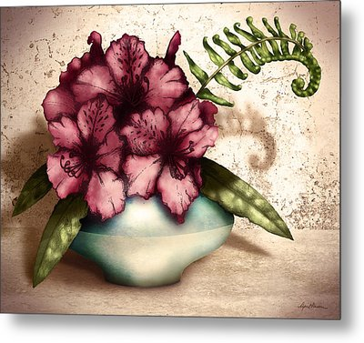 Rhododendron I Metal Print by April Moen