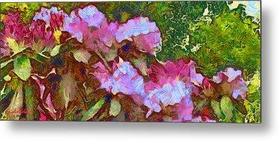 Metal Print featuring the digital art Rhododendron Splash by Spyder Webb