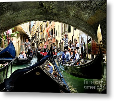 Metal Print featuring the photograph Rhythm Of Venice by Jennie Breeze
