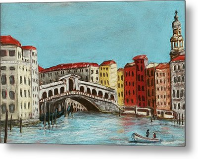Rialto Bridge Metal Print by Anastasiya Malakhova