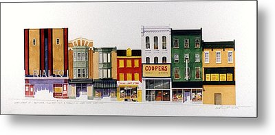 Metal Print featuring the painting Rialto Theater by William Renzulli