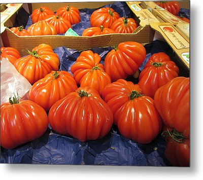 Ribbed Tomatoes Metal Print
