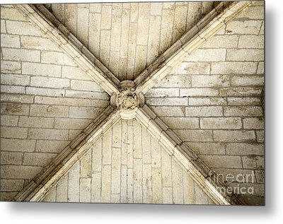 Ribbed Vault Keystone Metal Print