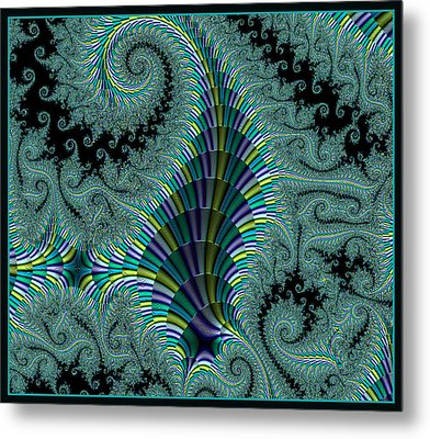 Metal Print featuring the digital art Ribbon Of Stairs by Melissa Messick