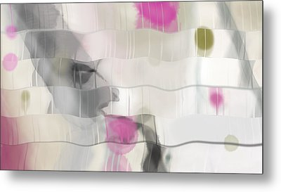 Metal Print featuring the digital art Ribbons And Drips by Constance Krejci