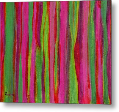 Ribbons Metal Print by Donna  Manaraze