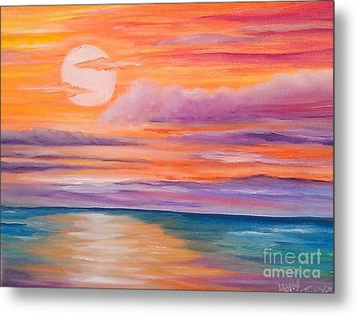Metal Print featuring the painting Ribbons In The Sky by Holly Martinson