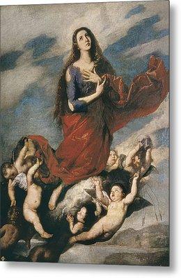 Ribera, Jos� 1588-1652. Ecstasy Of Mary Metal Print by Everett