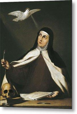 Ribera, Jos� 1588-1652. Santa Teresa De Metal Print