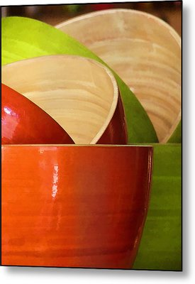 Metal Print featuring the photograph Rice Bowl Stack by Kim Andelkovic