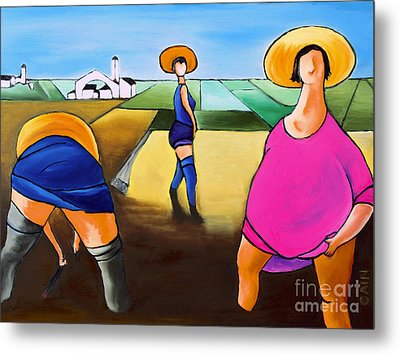 Rice Pullers Metal Print by William Cain