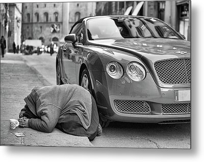 Rich And Poor Metal Print by Michele Chiroli