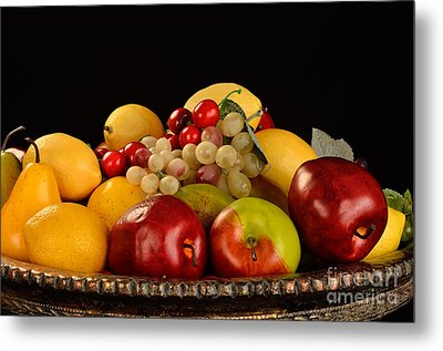 Rich Bowl Of Fruit Metal Print by Timothy OLeary