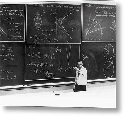 Richard Feynman Metal Print by Us Department Of Energy