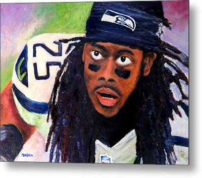 Richard Sherman Metal Print by Marti Green