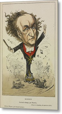 Richard Wagner Metal Print by British Library