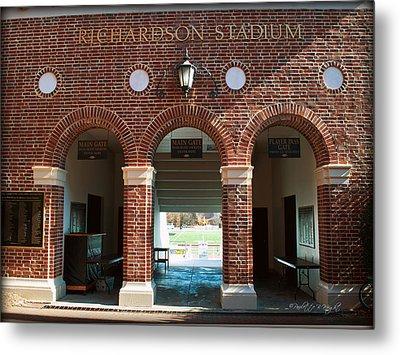 Richardson Stadium Main Gate - Davidson College Metal Print by Paulette B Wright