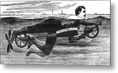 Richardsons Swimming Device 1880 Metal Print by Science Source
