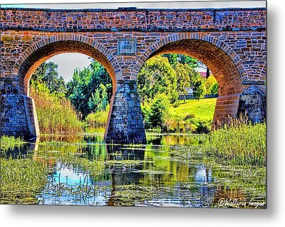 Metal Print featuring the photograph Richmond Bridge by Wallaroo Images