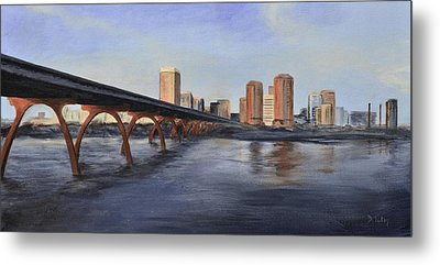 Metal Print featuring the painting Richmond Virginia Skyline by Donna Tuten