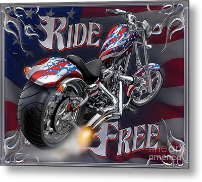 Ride Free Metal Print by JQ Licensing