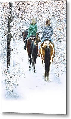 Ride Into Faerieland Metal Print by Jill Westbrook