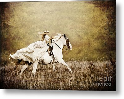 Ride Like The Wind Metal Print by Cindy Singleton