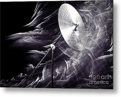Ride Or Suspended Cymbal In Sepia 3241.01 Metal Print