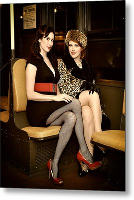 Metal Print featuring the photograph Ride The Pinup Express 4 by Jim Poulos