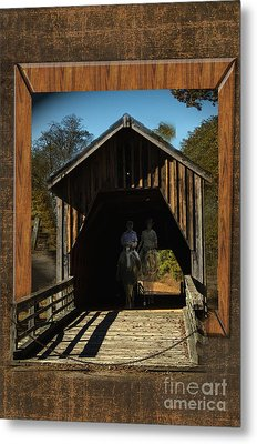Riders From The Pass Metal Print by Donna Brown