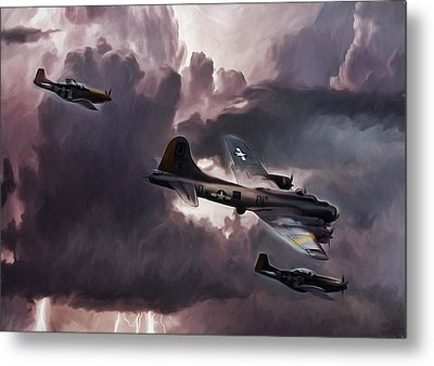 Riders On The Storm Metal Print by Peter Chilelli
