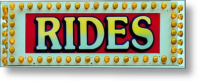 Rides Metal Print by Skip Willits