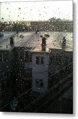 Ridgewood Houses Wet With Rain Metal Print by Mieczyslaw Rudek Mietko