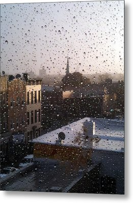 Ridgewood Wet With Rain Metal Print