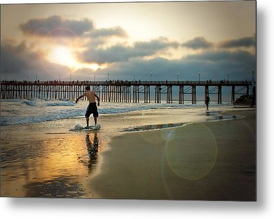 Riding Off Into The Sunset Metal Print