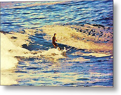 Riding Out The Wave Metal Print