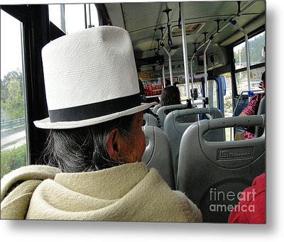 Riding The Bus Metal Print by Al Bourassa